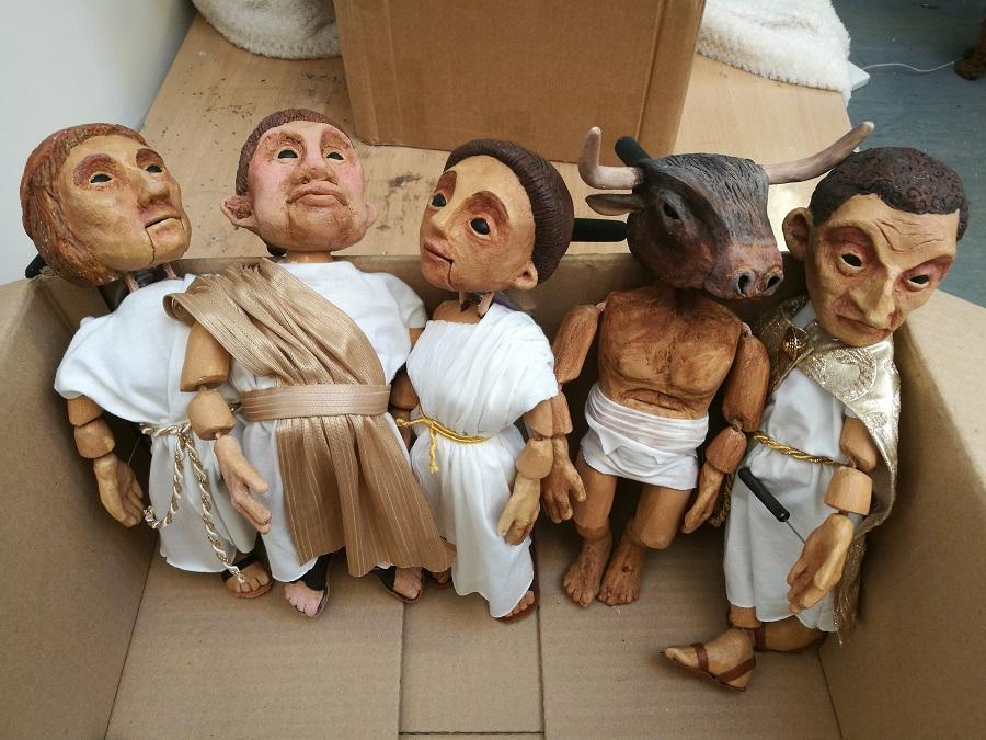 Greek style puppets